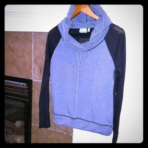 ATHLETA PULLOVER HOODIE KNIT MESH FABRIC